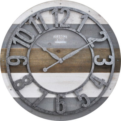 Shabby Planks Wall Clock-31061