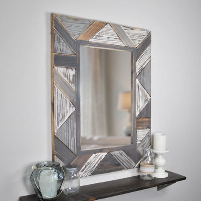 Salvaged Planks Wall Mirror
