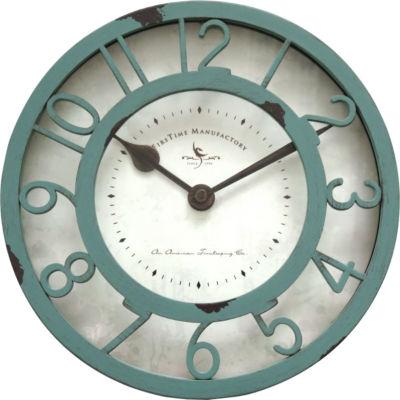 Sage Raised Wall Clock-99663