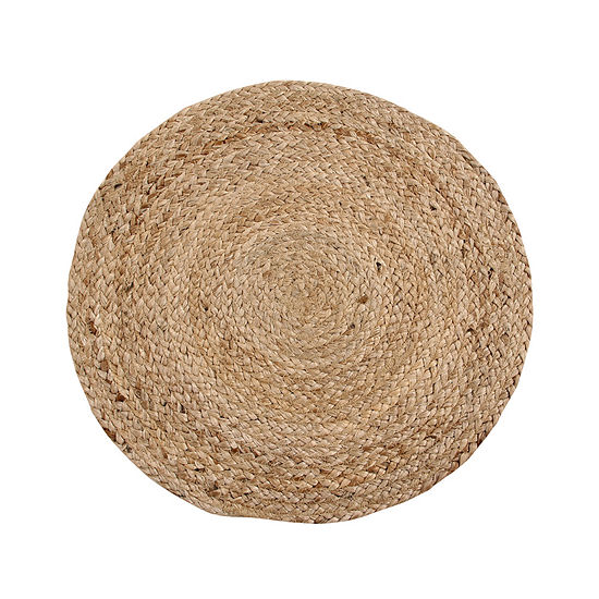 Better Trends Solid Jute 4 Pc Round Placemats