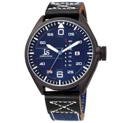 Joshua & Sons Mens Blue Strap Watch-J-145bu