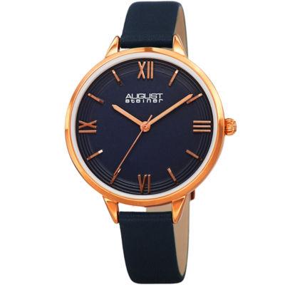 August Steiner Womens Blue Strap Watch-As-8263bu