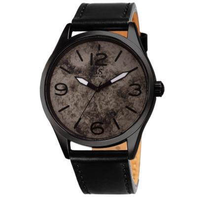 Joshua & Sons Mens Black Strap Watch-J-144bk