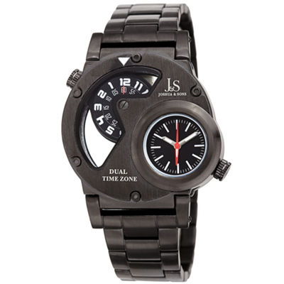 Joshua & Sons Mens Black Strap Watch-J-143bk