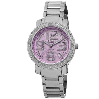 Burgi Womens Silver Tone Bracelet Watch-B-091sspk