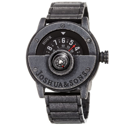 Joshua & Sons Mens Black Strap Watch-J-139bk