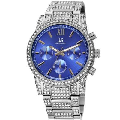 Joshua & Sons Mens Silver Tone Strap Watch-J-138ssbu