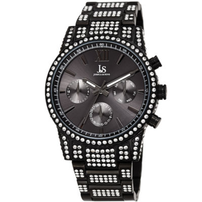 Joshua & Sons Mens Black Bracelet Watch-J-138bk