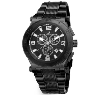 Joshua & Sons Mens Black Bracelet Watch-J-104bk