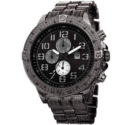 Joshua & Sons Mens Black Strap Watch-J-78bk