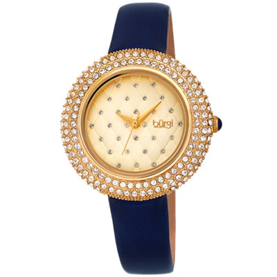 Burgi Womens Blue Strap Watch-B-207bu