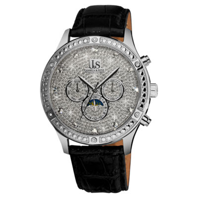 Joshua & Sons Mens Black Strap Watch-J--41-Ss
