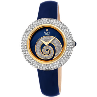 Burgi Womens Blue Strap Watch-B-209bu