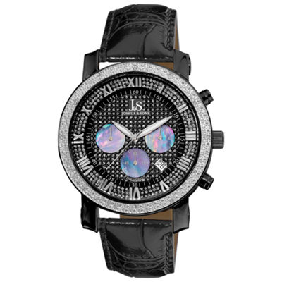 Joshua & Sons Mens Black Strap Watch-J--28-02