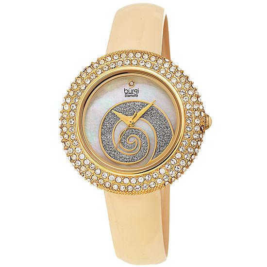 Burgi Womens Gold Tone Strap Watch B 209yg