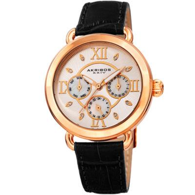 Akribos XXIV Womens Black Strap Watch-A-1043bkr