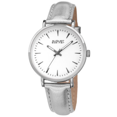 August Steiner Womens Silver Tone Strap Watch-As-8259ss