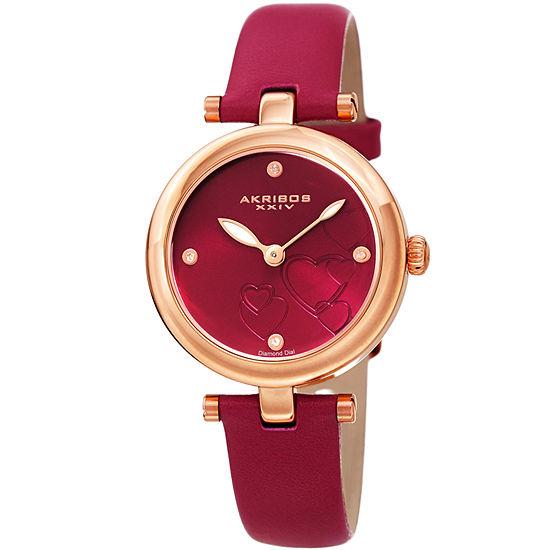 Akribos XXIV Womens Pink Bracelet Watch-A-1044pk
