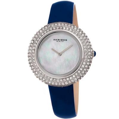 Akribos XXIV Womens Blue Strap Watch-A-1049bu