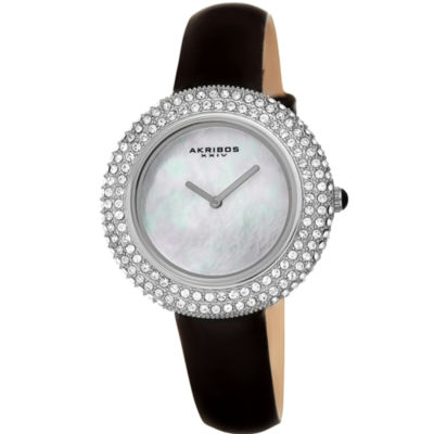 Akribos XXIV Womens Black Strap Watch-A-1049ssb