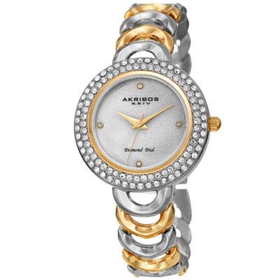 Akribos XXIV Womens Two Tone Bracelet Watch-A-1050ttg