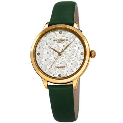 Akribos XXIV Womens Green Strap Watch-A-1051gn