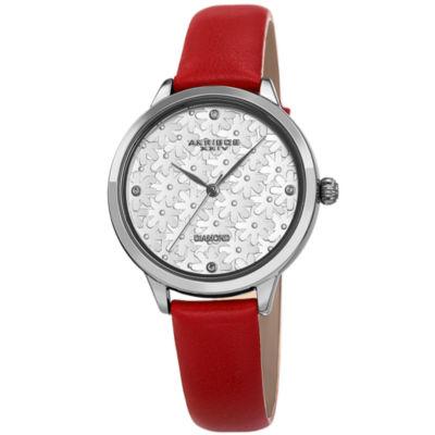 Akribos XXIV Womens Silver Tone Strap Watch-A-1051rd