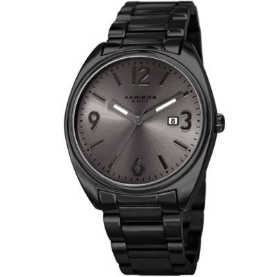 Akribos XXIV Mens Black Strap Watch-A-957bk