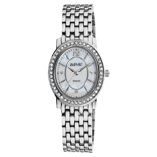 N By Nicole Miller Womens Silver Tone Bracelet Watch-As-8043ss