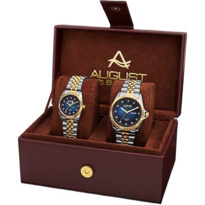 August Steiner Mens Two Tone Strap Watch-As-8201ttgb