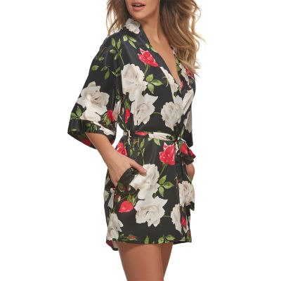 Jezebel 3/4 Sleeve Satin Kimono Robes