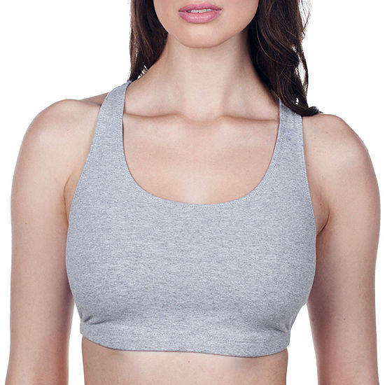 87e6b1a906 Leading Lady Breathable Cotton Racerback Sports Bra JCPenney