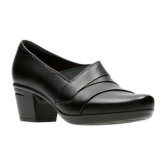 Clarks Womens Emslie Warbler Slip-On Shoe Closed Toe - JCPenney 5c22f81dfe7