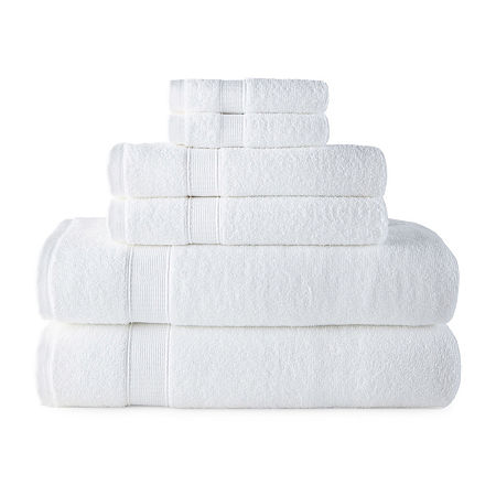 JCPenney Home Performance Bath Towel Collection, One Size , White