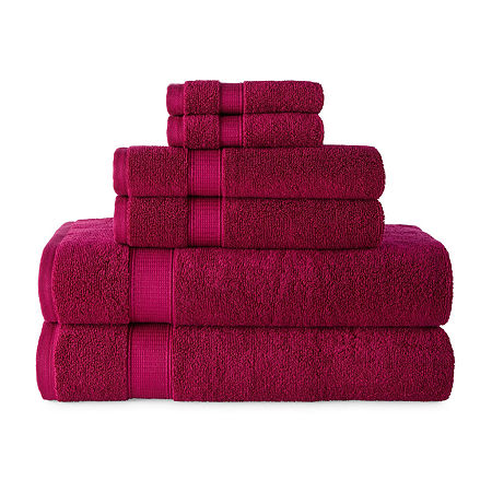JCPenney Home Performance Bath Towel Collection, One Size , Pink