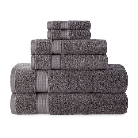 JCPenney Home Performance Bath Towel Collection, One Size , Gray