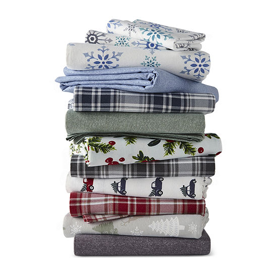 North Pole Trading Co Flannel Print Sheet Set