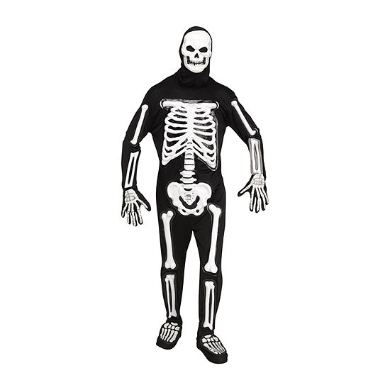 Mens Light Up LED Skele-bones Costume - One Size