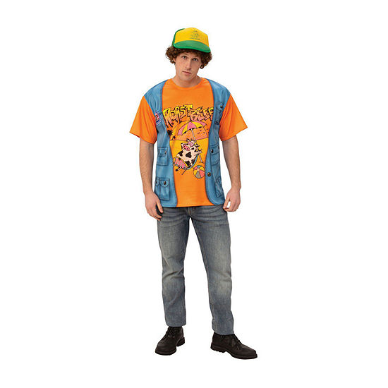 "Stranger Things Dustin's ""Roast Beef"" T Shirt Adult Dress Up Costume Mens"