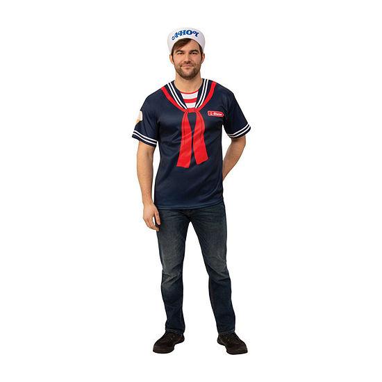 Stranger Things Steve's Scoops Ahoy Uniform Adult 2-pc. Dress Up Costume Mens