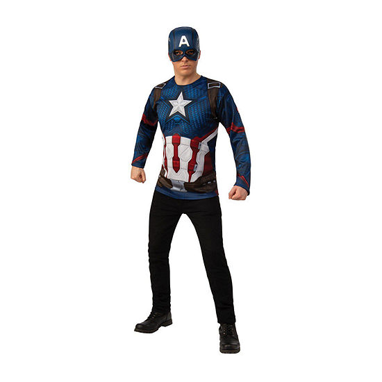 AVENGERS CAPTAIN AMERICA ADULT COSTUME Mens Large Top w/Mask