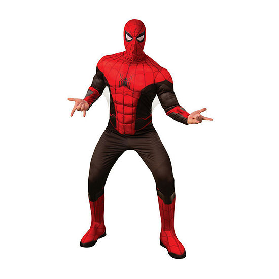 Spider - Man Far From Home Deluxe (Red/Black Suit) Adult 2-pc. Dress Up Costume Mens