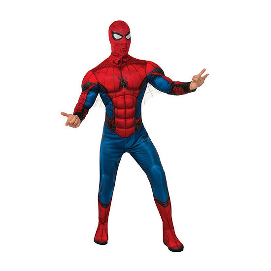 Spider- Man Far From Home Deluxe (Red/Blue Suit) Adult 2-pc. Dress Up Costume