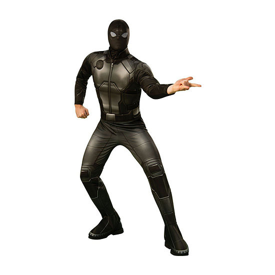 Spider - Man Far From Home Deluxe (Stealth Black/Gray Suit) Adult 2-pc Dress Up Costume Mens