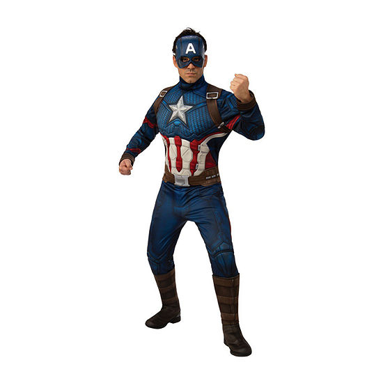Avengers Captain America Deluxe Adult 2-pc. Dress Up Costume Mens