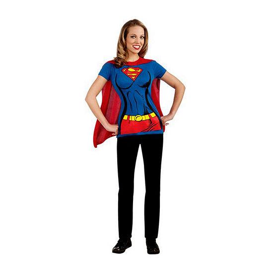 Supergirl T-Shirt Adult Dress Up Costume Womens