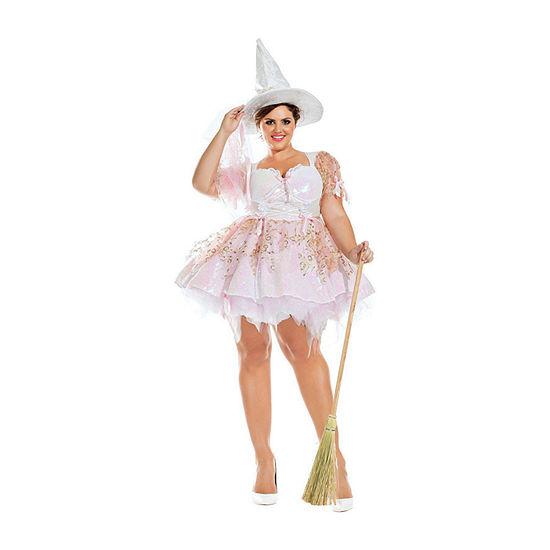 Adult Sassy Plus White Magic Witch