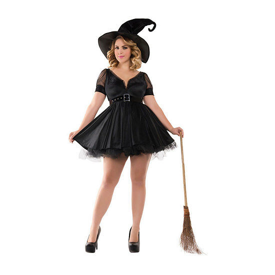 Adult Sassy Plus Bewitching Pin-Up Witch