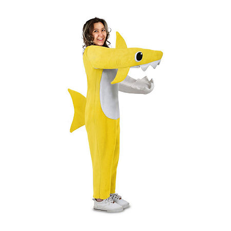Adult Chompin' Baby Shark Costume With Sound Chip Unisex Costume, Large-x-large , Yellow