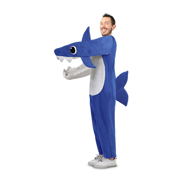 Adult Xxl Chompin' Daddy Shark With Sound Chip Unisex Costume